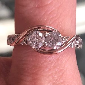 14k Gold 2 Stone 1 Carat Diamond Ever Us Ring